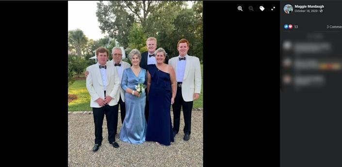 The Murdaugh family at an outing in 2020 that Maggie Murdaugh (front right) posted on her Facebook page.