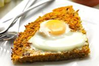 """<p>Hash brown fan? This is the breakfast dish you've been waiting all your life for.</p><p>Get the recipe from <a href=""""http://www.thehealthymaven.com/2014/12/sweet-potato-and-apple-latke-cake-with-baked-eggs.html"""" rel=""""nofollow noopener"""" target=""""_blank"""" data-ylk=""""slk:The Healthy Maven"""" class=""""link rapid-noclick-resp"""">The Healthy Maven</a>.</p><p><br></p>"""
