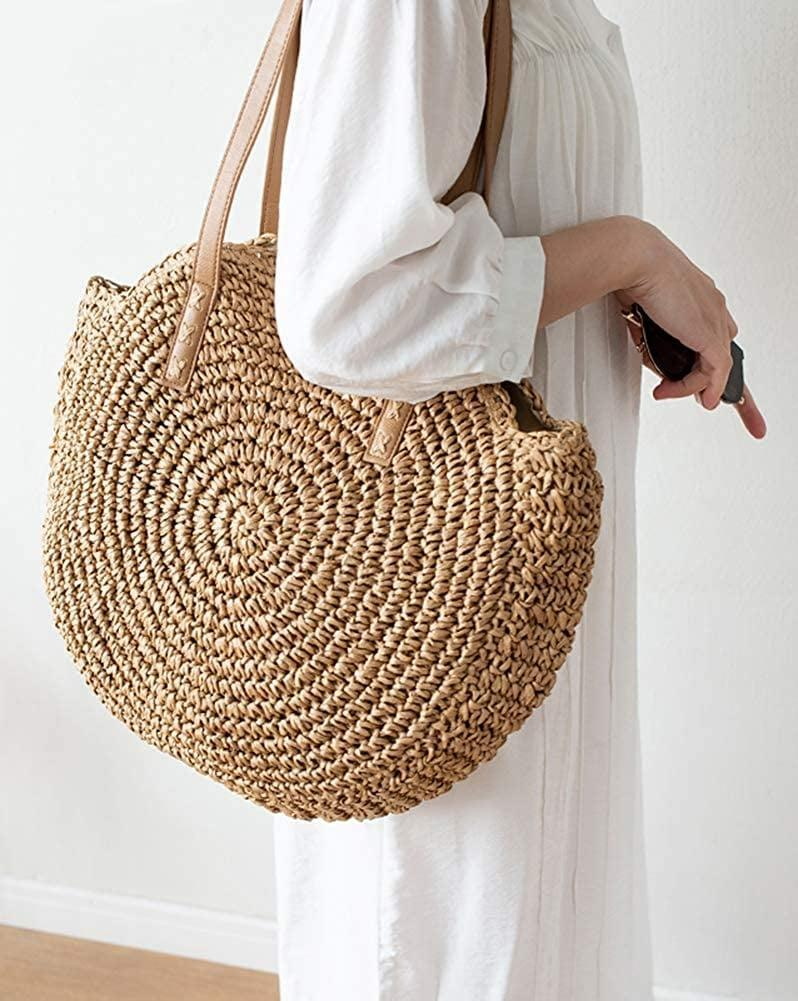 <p>You don't have to plan a beach day to rock this stylish <span>Large Woven Round Beach Tote </span> ($15, originally $20). It's perfect for summer adventures with friends, especially since it can fit a lot of stuff.</p>