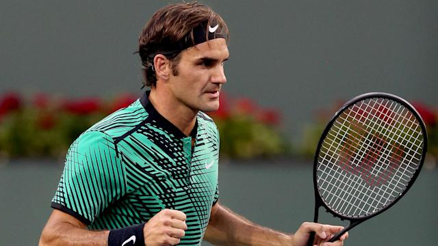 Roger Federer stands one win away from a fifth title in Indian Wells and looked in fine form as he brushed Jack Sock aside in the semis.