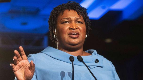 PHOTO: Georgia Democratic gubernatorial candidate Stacey Abrams addresses supporters during an election night watch party in Atlanta, Nov. 6, 2018. (John Amis/AP, FILE)