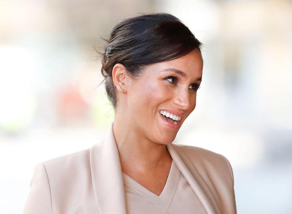 "<p>In Meghan's <a href=""https://www.vogue.co.uk/article/meghan-markle-editors-letter-september-2019-issue"" rel=""nofollow noopener"" target=""_blank"" data-ylk=""slk:guest editor's letter"" class=""link rapid-noclick-resp"">guest editor's letter</a> in <em>Vogue</em>, she mentioned an affinity for London-based fitness studio <a href=""https://www.heartcore.co.uk/barre-ritual"" rel=""nofollow noopener"" target=""_blank"" data-ylk=""slk:Heartcore's Ritual class"" class=""link rapid-noclick-resp"">Heartcore's Ritual class</a>. ""Heartcore's new Ritual class is a high-energy, cardio-based mat workout incorporating elements of yoga, Pilates and barre,"" the description in <em>Vogue </em>reads.<br></p>"