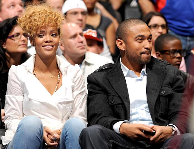 "<p>Rihanna spent 2010 coupled up with the L.A. Dodgers outfielder — much to her delight. ""I'm so happy. I feel really comfortable, and it's so easy,"" she <a href=""http://people.com/celebrity/rihanna-relationship-with-boyfriend-matt-kemp-is-so-easy/"" rel=""nofollow noopener"" target=""_blank"" data-ylk=""slk:told Elle"" class=""link rapid-noclick-resp"">told <i>Elle</i></a> that summer. But by the time she spoke with <em>Vogue</em> for the April 2011 issue, she was single. ""I just kind of shut down from that,"" Rihanna said. ""I just let it go. I don't ever want to have to depend on a relationship."" The star's <a href=""https://www.si.com/extra-mustard/2014/09/22/detailed-account-rihannas-dating-history-athletes"" rel=""nofollow noopener"" target=""_blank"" data-ylk=""slk:athlete beaus"" class=""link rapid-noclick-resp"">athlete beaus</a> reportedly also include NBA players J.R. Smith and Rashard Lewis. (Photo: Noah Graham/NBAE via Getty Images) </p>"