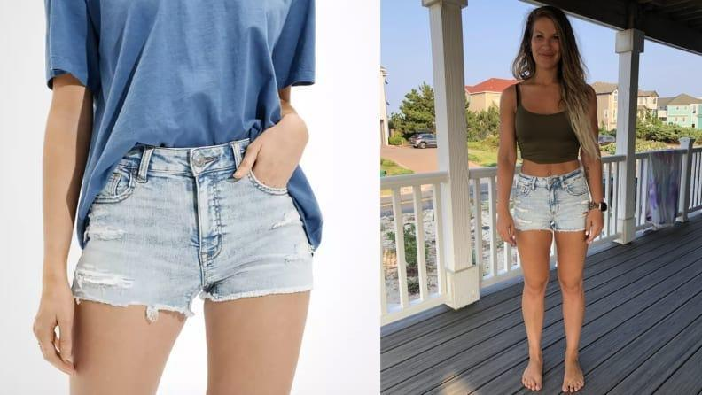 The American Eagle shorts were super stretchy, which I liked.