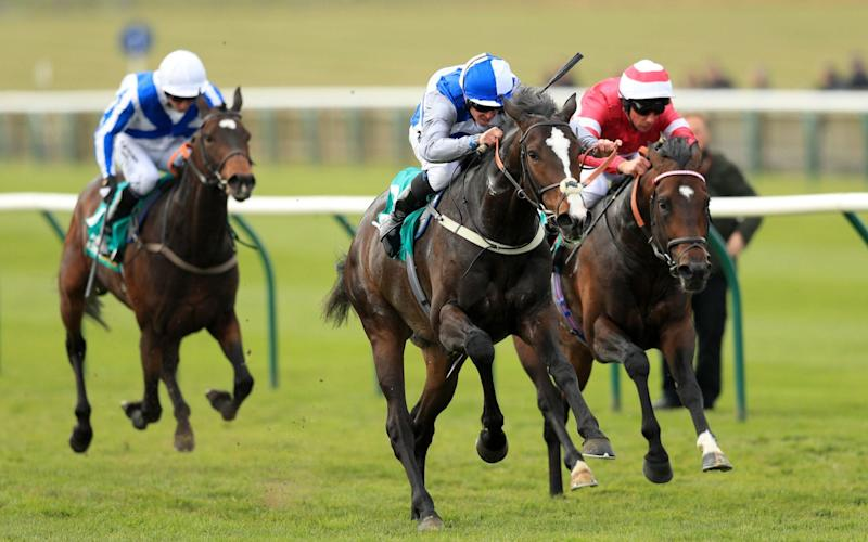 Eminent (centre) triumphed bya length and three quarters - PA