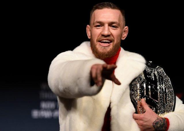 Conor McGregor says his next fight will be in a boxing ring against Floyd Mayweather. (Getty)
