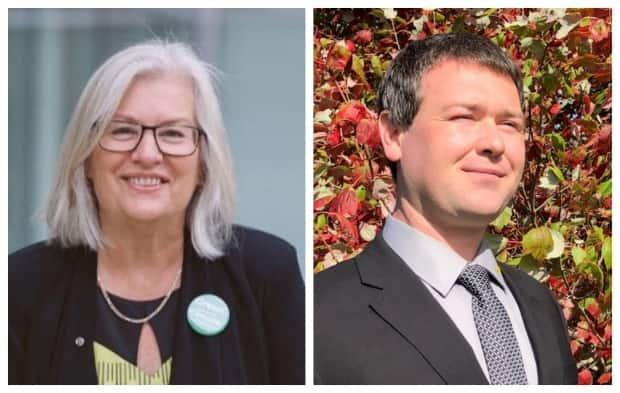 Darcie Lanthier and Michael MacLean were recently nominated as the Green candidates in their respective ridings.  (Facebook - image credit)