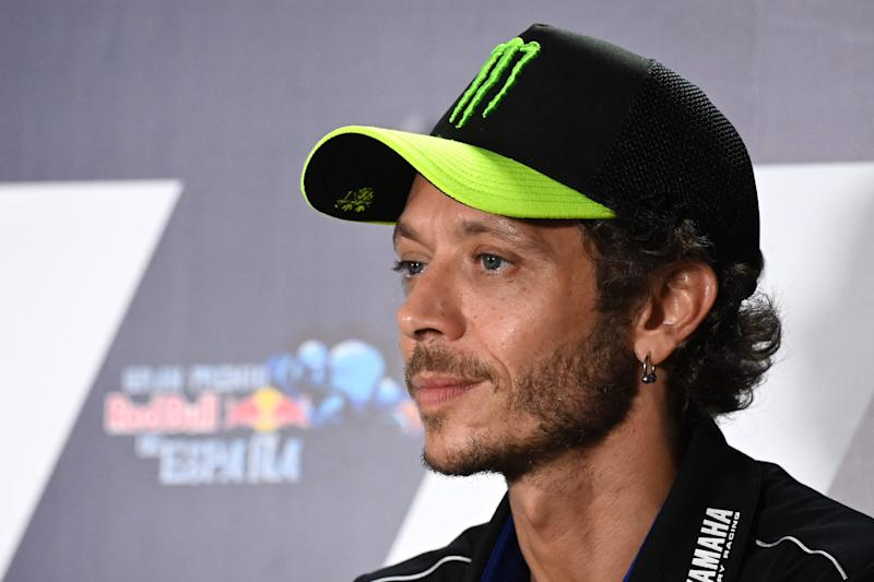 Nine-time world champion Valentino Rossi has tested positive for coronavirus (AFP via Getty)