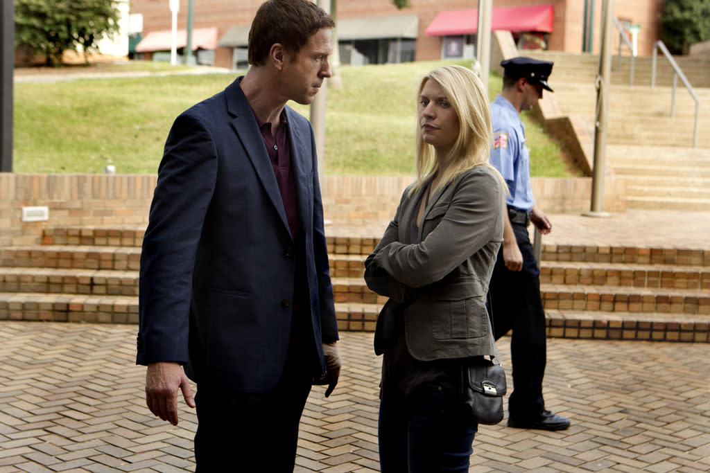 "Damian Lewis as Nicholas ""Nick"" Brody and Claire Danes as Carrie Mathison in the ""Homeland"" Season 2 episode, ""The Clearing."""