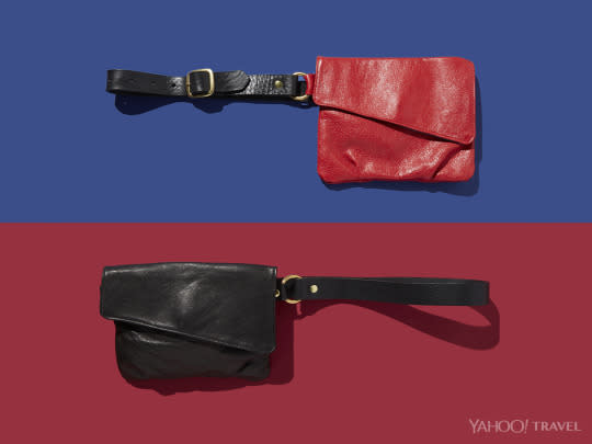"<p>If you associate fanny packs with your Birks-and-socks-wearing Uncle, think again. The new fanny pack is sleek and stylish, like <a href=""http://magalidesigns.com/hipbag-fanny-packs/"">this leather version</a> that works with even the most fashion-forward outfit. Sling your keys, wallet, and cell phone from your hip — and then forget about it. <i>(Photo: Jon Paterson for Yahoo Travel)</i></p>"