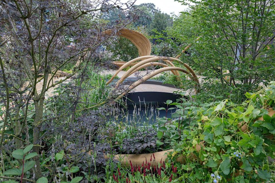 <p><strong>FEATURE GARDEN | (not judged)</strong></p><p>Designed by Arit Anderson, this garden illustrates how gardening and growing plants provides hope and joy, as we enjoy the fruits of our labour as our plants flourish and grow. </p>