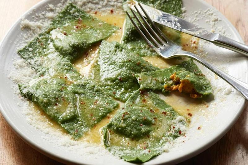 Spinach and squash ravioli at Palatino (Palatino)