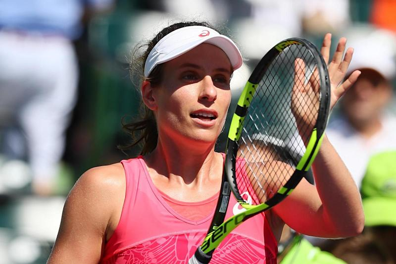 Through | Johanna Konta will play either Venus Williams or Angelique Kerber in the last four: Getty Images