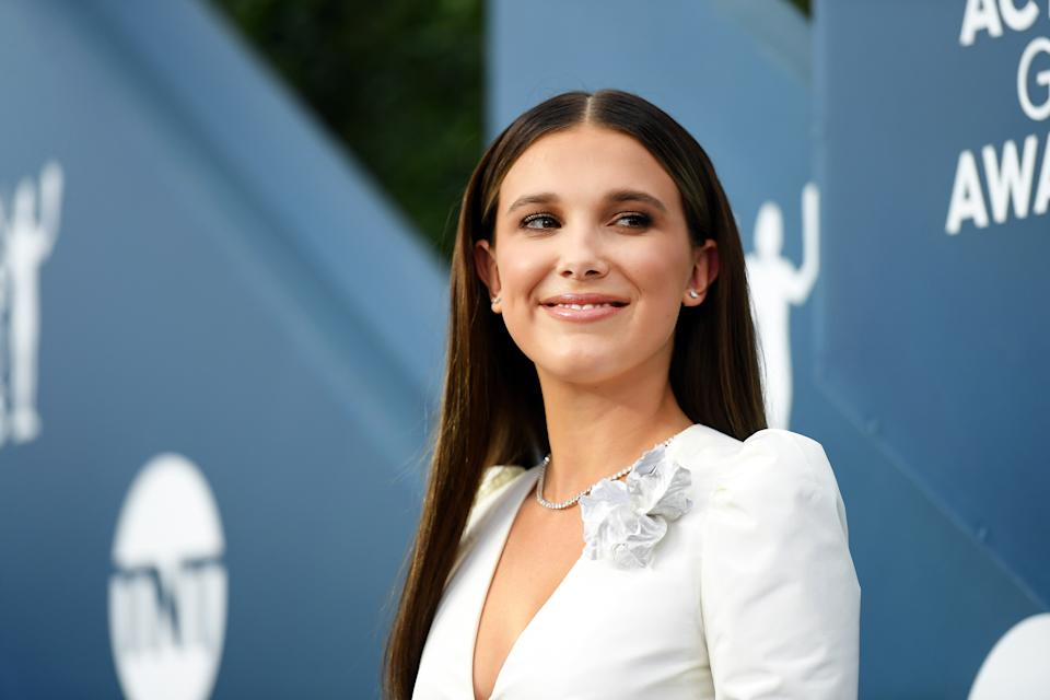 LOS ANGELES, CALIFORNIA - JANUARY 19: Millie Bobby Brown attends the 26th Annual Screen Actors Guild Awards at The Shrine Auditorium on January 19, 2020 in Los Angeles, California. 721384 (Photo by Mike Coppola/Getty Images for Turner)