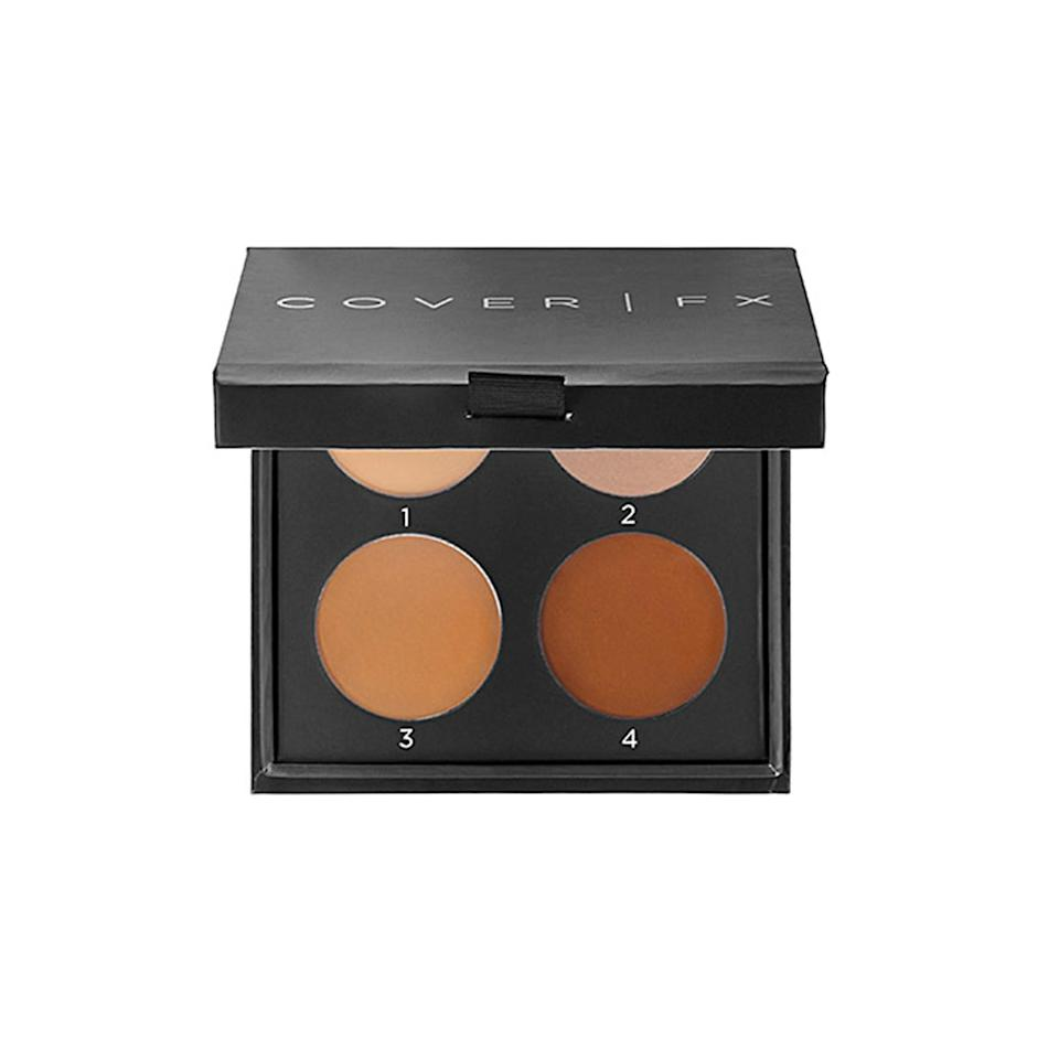 """<p><strong>Cover FX Contour Kit</strong></p> <p>This kit comes with four numbered pans that blends into skin so seamlessly that people may think all the definition you've created is actually natural. It's even available in six different sets of shades based on undertones, so you're sure to find one that's a match for your skin tone.</p> <p>$48 (<a href=""""http://www.sephora.com/contour-kit-P393632?mbid=synd_yahoobeauty"""" rel=""""nofollow noopener"""" target=""""_blank"""" data-ylk=""""slk:sephora.com"""" class=""""link rapid-noclick-resp"""">sephora.com</a>).</p>"""