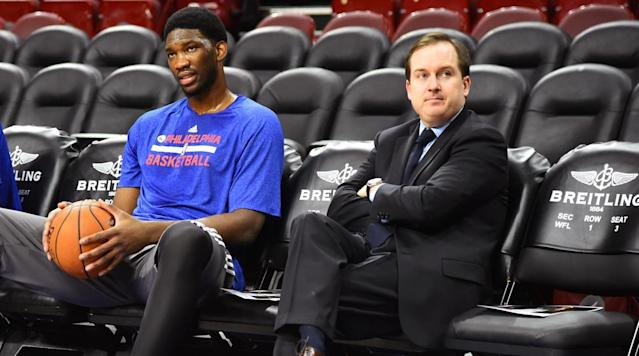 "<p>Sam Hinkie was hired as the Sixers GM on May 14, 2013. He stepped down on April 6, 2016 after the franchise hired Jerry Colangelo as Chairman of Basketball Operations. During Hinkie's short tenure, he made a slew of trades that put the team in the position the acquire the first overall pick of this year's NBA Draft, <a href=""https://www.si.com/nba/2017/06/17/trade-grades-draft-sixers-celtics-no-1-pick-markelle-fultz-joel-embiid-picks"" rel=""nofollow noopener"" target=""_blank"" data-ylk=""slk:which happened today"" class=""link rapid-noclick-resp"">which happened today</a>. Hinkie also coined the phrase that Joel Embiid loves to say on all forms of social media: ""Trust the Process.""</p><p>That process was trusted and now Sixers fans are thrilled to see a team featuring Embiid, Ben Simmons, Markelle Fultz. They're also making sure Hinkie gets his due. Sixers Twitter went nuts on Monday after <a href=""https://www.si.com/nba/2017/06/17/trade-grades-draft-sixers-celtics-no-1-pick-markelle-fultz-joel-embiid-picks"" rel=""nofollow noopener"" target=""_blank"" data-ylk=""slk:the trade with the Celtics was officially announced"" class=""link rapid-noclick-resp"">the trade with the Celtics was officially announced</a>.</p><p>As of this writing, <a href=""https://twitter.com/samhinkie"" rel=""nofollow noopener"" target=""_blank"" data-ylk=""slk:Hinkie hasn't weighed in about the trade on Twitter"" class=""link rapid-noclick-resp"">Hinkie hasn't weighed in about the trade on Twitter</a>, where he's been silent for more than a month.</p>"