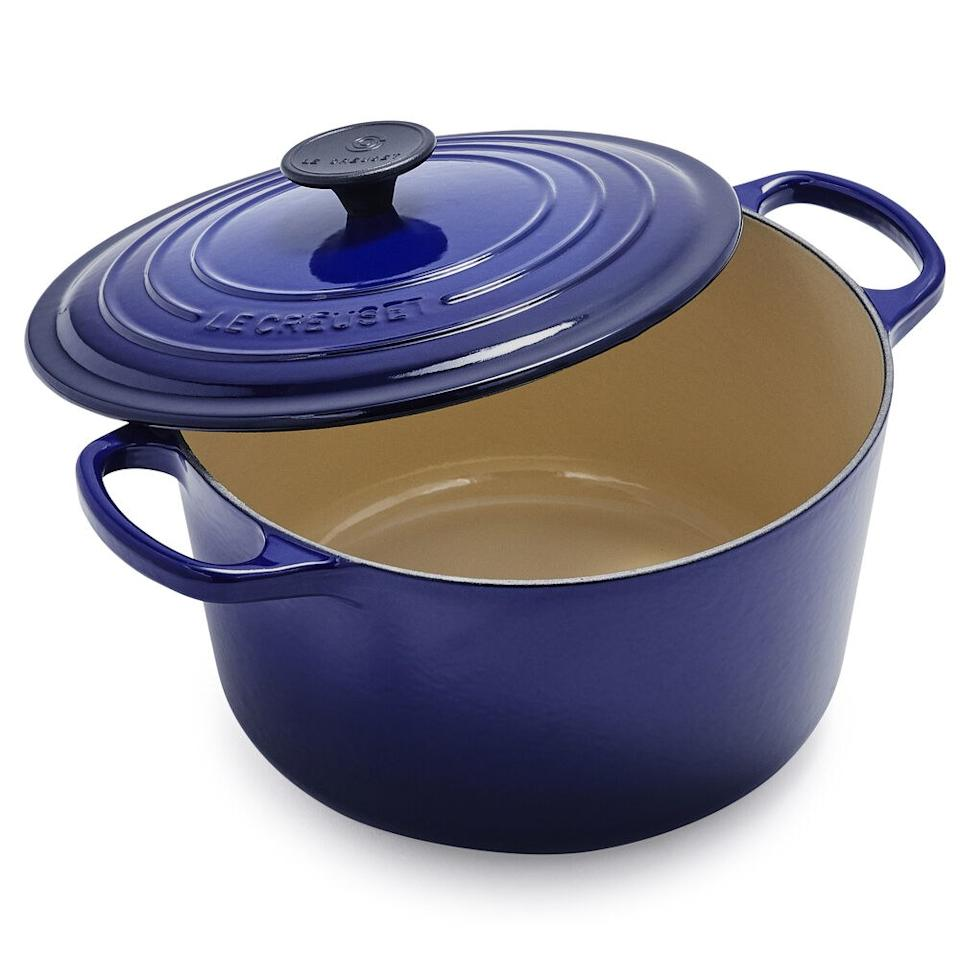 "<p>This roomy Dutch oven from Le Creuset is 20% larger than average, which means extra room for soups, stews, and more.</p> <p><strong>Buy it:</strong> $200 (originally $325), <a href=""https://SurLaTable.aiy7.net/R3ZQN"" rel=""nofollow"">surlatable.com</a></p>"