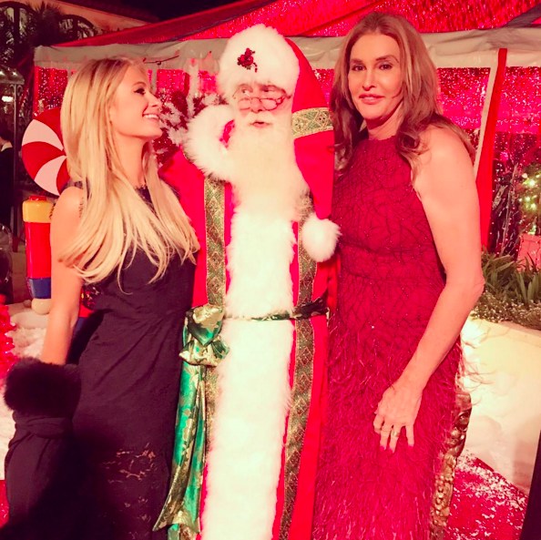 """<p>Paris Hilton scored an invite to the annual Kardashian Christmas party, and even got a snap with Caitlyn Jenner <i>and</i> Kris Kringle himself: """"#Kristmas with Santa &@CaitlynJenner."""" (Photo: <a rel=""""nofollow noopener"""" href=""""https://www.instagram.com/p/BOdAe8_AObU/"""" target=""""_blank"""" data-ylk=""""slk:Instagram"""" class=""""link rapid-noclick-resp"""">Instagram</a>) </p>"""