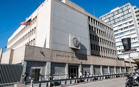 It will take years to relocate the US embassy, which is currently in Tel Aviv - Credit: AFP