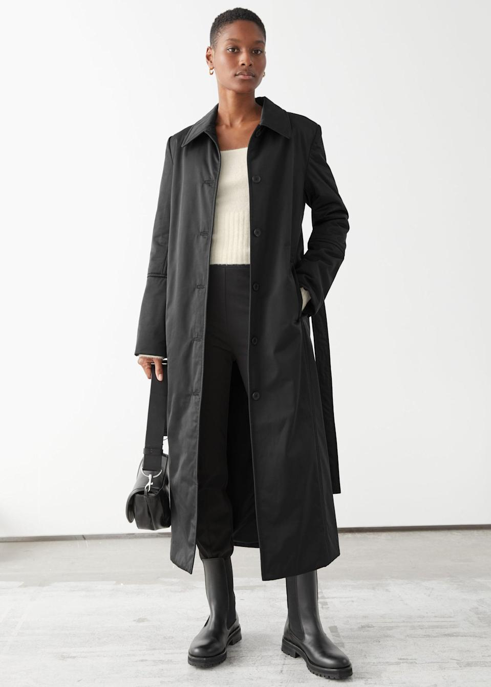<p>This <span>&amp; Other Stories Fitted Belted Padded Coat</span> ($89, originally $179) is so dainty and cute. It also looks supersoft.</p>