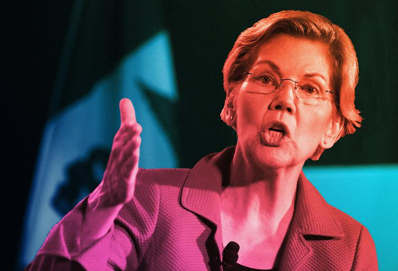 By focusing on racial inequity during her campaign, Elizabeth Warren has made inroads with political activists and strategists of color. (Photo: Illustration: Damon Dahlen/HuffPost; Photos: Getty)