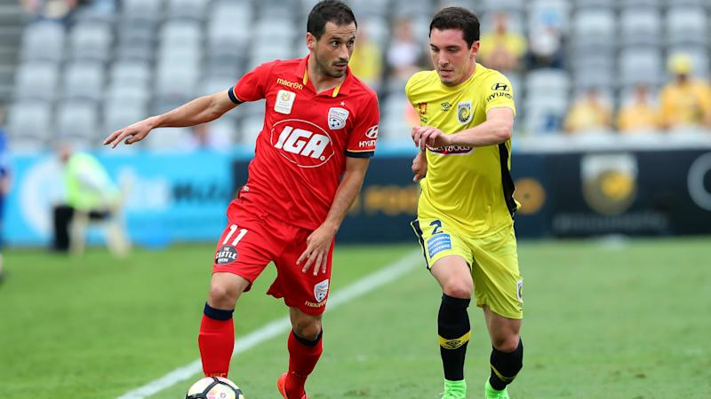 Sergio Cirio Storm Roux Central Coast Mariners v Adelaide United A-League 25032017