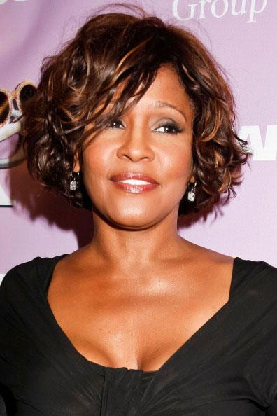 Whitney Houston arrives to the The love of R&B Grammy Party at Tru Hollywood on February 9, 2012 in Hollywood, California.