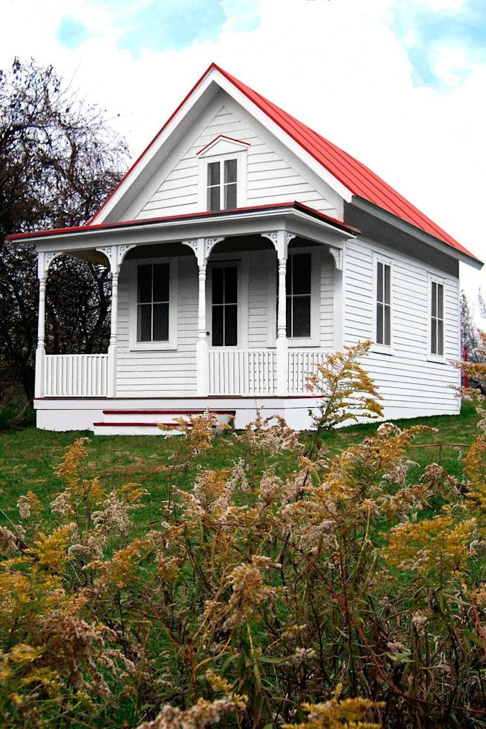 """<p>$759<br></p><p><a href=""""https://go.redirectingat.com?id=74968X1596630&url=https%3A%2F%2Fwww.tumbleweedhouses.com%2Ftiny-houses-for-sale%2F&sref=https%3A%2F%2Fwww.oprahdaily.com%2Flife%2Fg35047961%2Ftiny-house%2F"""" rel=""""nofollow noopener"""" target=""""_blank"""" data-ylk=""""slk:Tumbleweed Tiny House Company"""" class=""""link rapid-noclick-resp"""">Tumbleweed Tiny House Company</a>'s Bodega model features a fireplace, a full bath, and a kitchen, with the optional addition of a bedroom that would take the space to 356 square feet. Designed to keep construction costs low, the plans cost $759.<br></p><p><a class=""""link rapid-noclick-resp"""" href=""""https://go.redirectingat.com?id=74968X1596630&url=https%3A%2F%2Fwww.tumbleweedhouses.com%2Fdiy%2Ftumbleweed-tiny-house-plans%2F&sref=https%3A%2F%2Fwww.oprahdaily.com%2Flife%2Fg35047961%2Ftiny-house%2F"""" rel=""""nofollow noopener"""" target=""""_blank"""" data-ylk=""""slk:SHOP NOW"""">SHOP NOW</a><br></p>"""