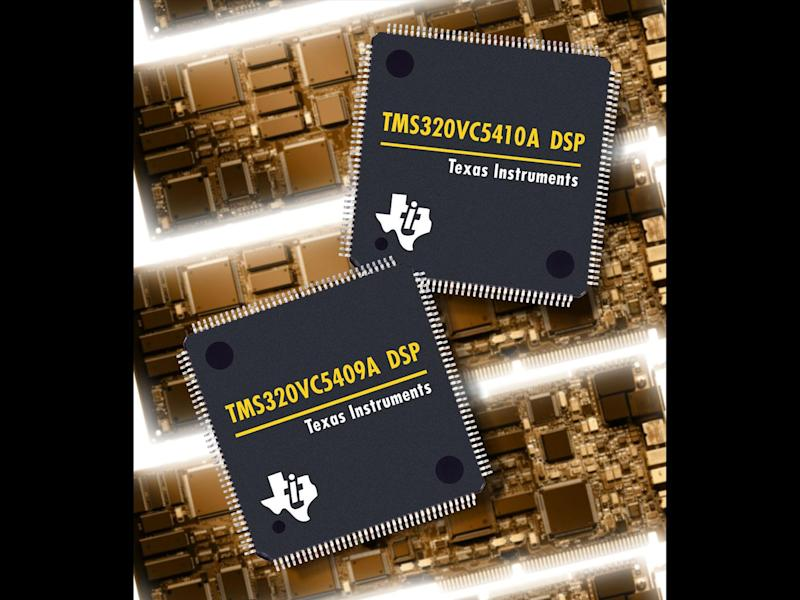 Texas Instruments DSP chips, photo on black