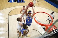"""<p>UCLA beat sixth seed Brigham Young University 73-62 to advance in the NCAA Tournament. Coming in as the 11th seed, UCLA managed to move past the first round for the first time since 2017, according to <a href=""""https://www.bruinsnation.com/2021/3/20/22342572/ucla-bruins-brigham-young-cougars-first-round-2021-ncaa-tournament-final-score-recap"""" rel=""""nofollow noopener"""" target=""""_blank"""" data-ylk=""""slk:Bruins Nation"""" class=""""link rapid-noclick-resp"""">Bruins Nation</a>. </p>"""