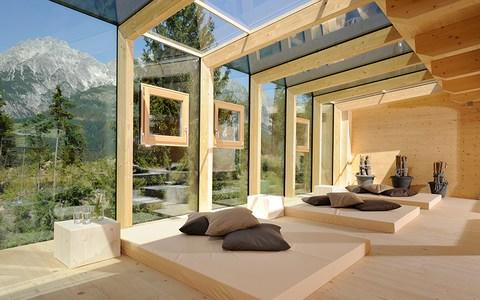 The Forsthofalm, a pine-scented eco-hotel 1,050 metres up in the mountains