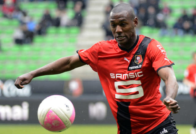 Rennes' French defender Kevin Theophile Catherine controls the ball during the French L1 football match Rennes against Ajaccio on April 29, 2012 at the route de Lorient stadium in Rennes, western France. AFP PHOTO DAMIEN MEYERDAMIEN MEYER/AFP/GettyImages