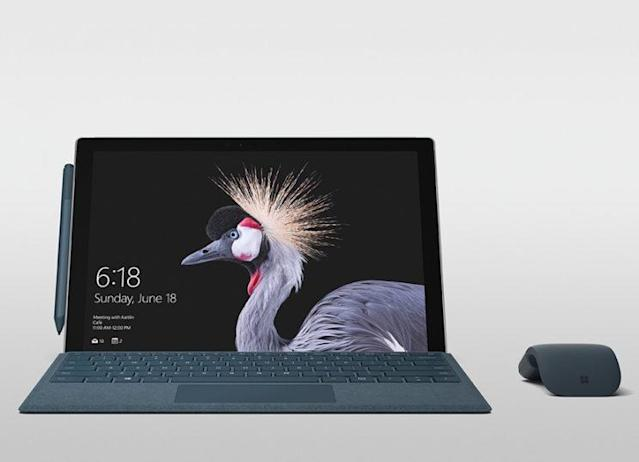 Microsoft's Surface Pro has a 12.3-inch display with two color switching options.