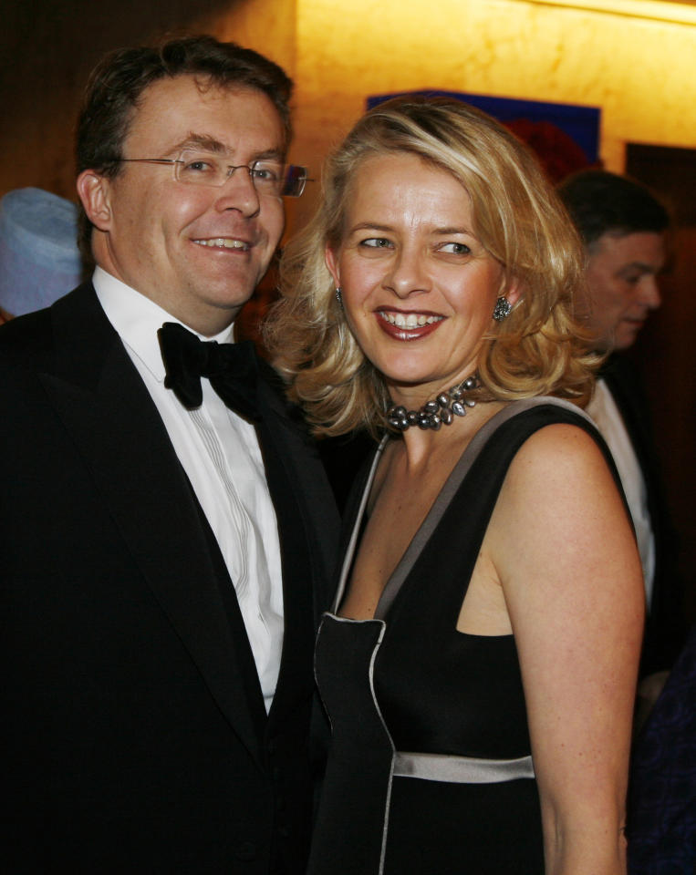 In this Dec. 10, 2008 file photo Dutch Prince Johan Friso, left, and his wife Mabel, right, arrive for a gala dinner in honor of Nobel Peace Prize laureate Martti Ahtisaari at the Grand Hotel in Oslo. Dutch Prime Minister Mark Rutte and the Austria Press Agency say Friday, Feb. 17, 2012 Queen Beatrix's second son Friso of the Dutch royal family has been hit by an avalanche in Austria. Austrian news agency APA reported Friday Prince Friso was buried under snow for 15 minutes before he was rescued and taken to a hospital in Innsbruck. The agency gave no source for its information and had no immediate information on Friso's condition.(AP Photo/John McConnico, File)