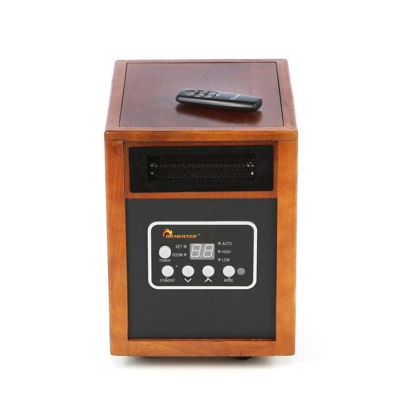 """<h2>Dr. Infrared HeaterPortable Electric Infrared Cabinet Heater</h2><br>This remote-controlled space heater has a blower, automatic shutoff protection, and a 12-hour timer, all contained in a cute, aesthetically-pleasing silhouette. <br><br><strong>The Hype</strong>: 4.5 out of 5 stars and 556 reviews on <a href=""""https://fave.co/3pCD5fg"""" rel=""""nofollow noopener"""" target=""""_blank"""" data-ylk=""""slk:Wayfair"""" class=""""link rapid-noclick-resp"""">Wayfair</a><br><br><strong>Heat Finders Say:</strong> """"Very happy with this heater. Bought it for a 12 x 8 shed and it keeps it comfortable. Also, it has a nice compact size compared to other heaters."""" – <em>Kim, Wayfair reviewer </em><br><br><strong>Dr. Infrared Heater</strong> Portable Electric Infrared Cabinet Heater, $, available at <a href=""""https://go.skimresources.com/?id=30283X879131&url=https%3A%2F%2Ffave.co%2F36K3Q8T"""" rel=""""nofollow noopener"""" target=""""_blank"""" data-ylk=""""slk:Wayfair"""" class=""""link rapid-noclick-resp"""">Wayfair</a>"""