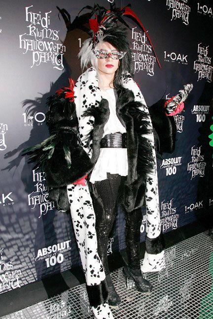 <p>As Cruella De Vil.</p>