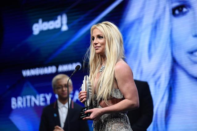 Britney Spears at an awards event in Beverly Hills earlier this year. (Photo: J. Merritt/Getty Images for GLAAD)