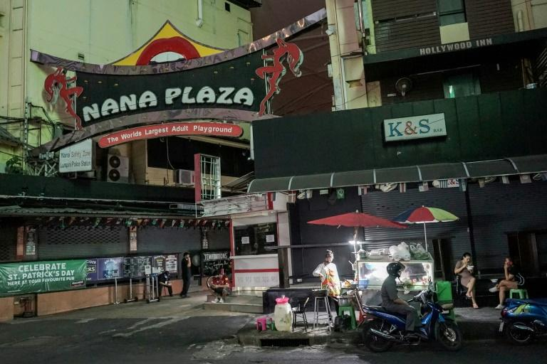 Red-light districts from Bangkok to Pattaya have gone quiet with night clubs and massage parlours closed and tourists blocked from entering the country