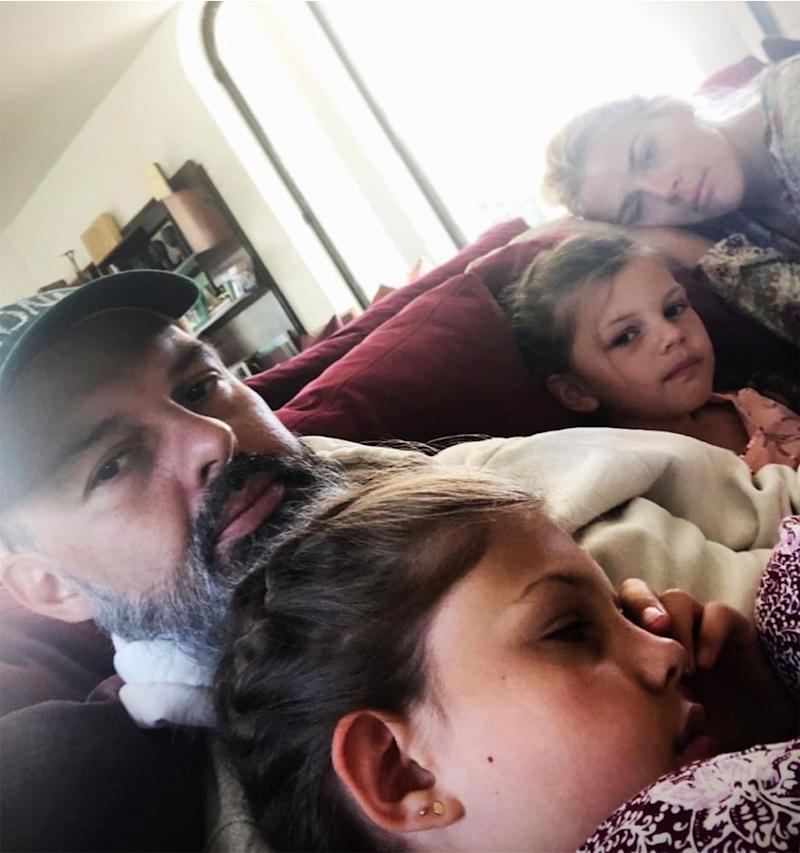 Busy Philipps, Marc Silverstein and their daughters Birdie and Cricket