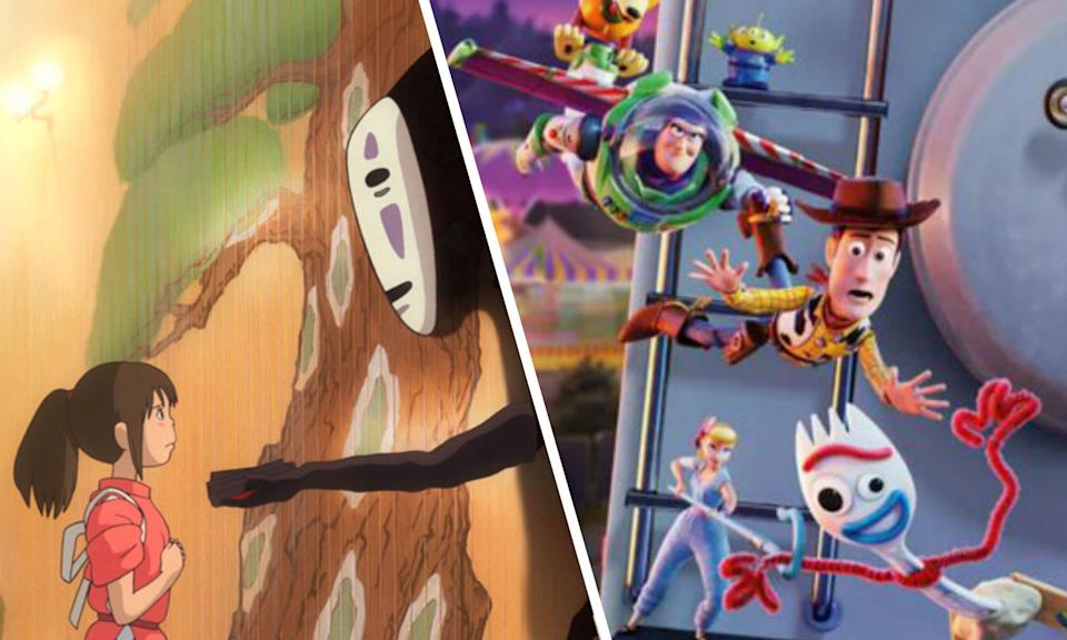 Toy Story 4 beaten by Spirited Away at the Chinese box office (Credit: Studio Ghibli/Disney-Pixar)