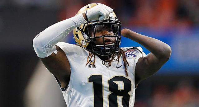 Shaquem Griffin keeps proving doubters wrong when it comes to his athletic abilities. (Getty Images)