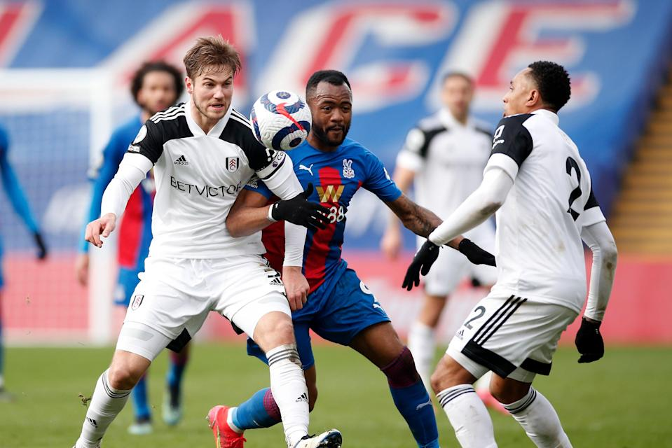<p>Confident: Joachim Andersen believes Fulham are capable of beating Tottenham on Thursday</p> (Getty Images)