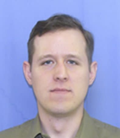 Matthew Eric Frein, 31, of Canadensis, Pennsylvania, is shown in this undated handout photo provided by the Pennsylvania Department of Transport September 16, 2014. REUTERS/Pennsylvania Department of Transport/Handout via Reuters