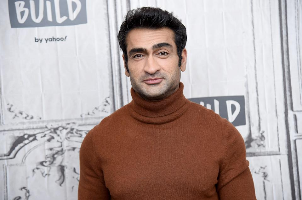 "NEW YORK, NEW YORK - FEBRUARY 05: Executive producer/writer Kumail Nanjiani visits the Build Series to discuss the Apple TV + Anthology Series ""Little America"" at Build Studio on February 05, 2020 in New York City. (Photo by Gary Gershoff/Getty Images)"