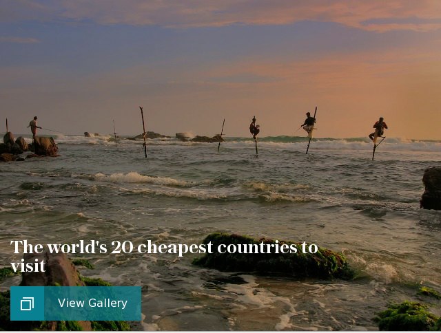These are the world's 20 cheapest countries to visit (and the five most expensive)