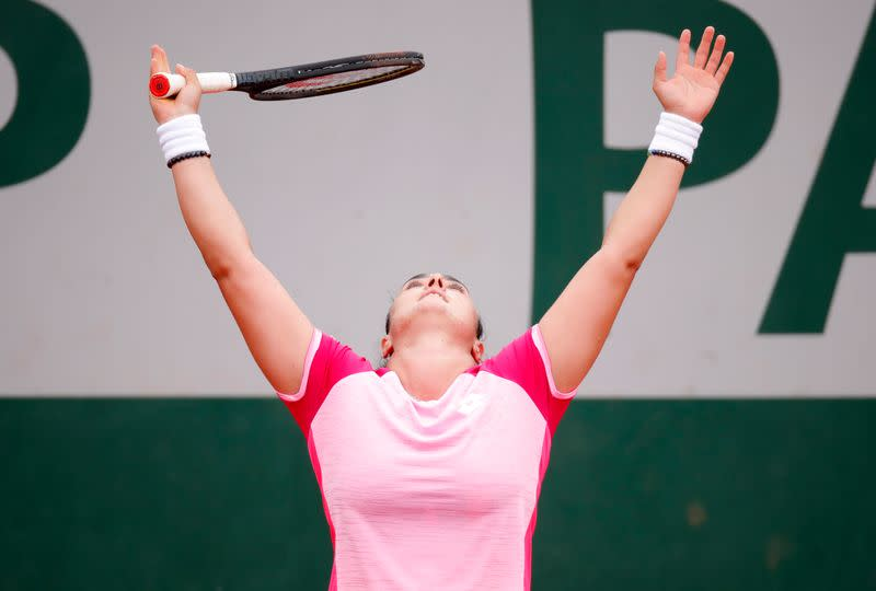 Tennis-Jabeur becomes first Arab woman to reach French Open last 16