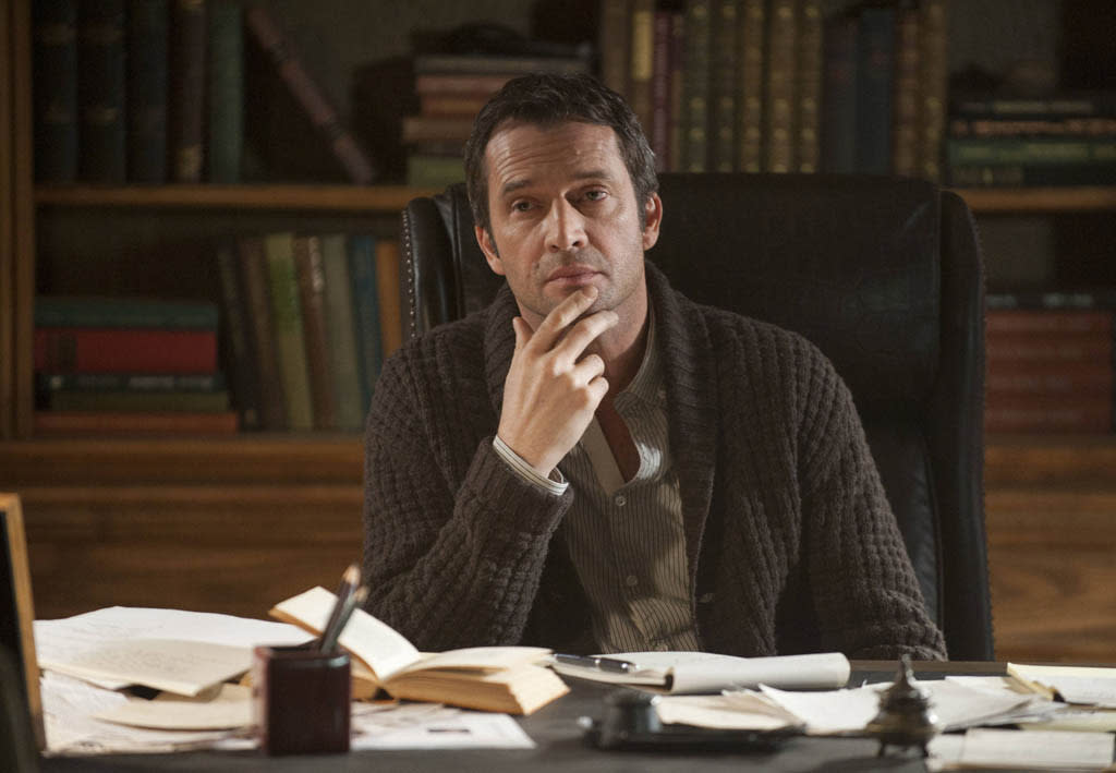 "Joe Carroll (James Purefoy) listens to his followers in the ""Guilt"" episode of ""The Following."""
