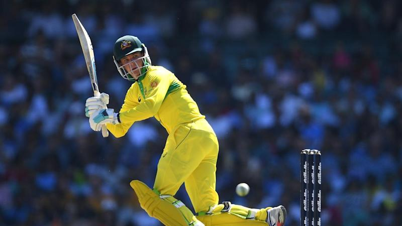 Peter Hanscomb has top scored as Australia have set India 289 to win their ODI clash at the SCG