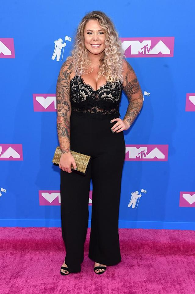 <p>Kailyn Lowry attends the 2018 MTV Video Music Awards at Radio City Music Hall on August 20, 2018 in New York City. (Photo: Jamie McCarthy/Getty Images) </p>