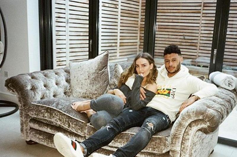 Loved up: Perrie Edwards and Alex Oxlade-Chamberlain have sparked marriage rumours: Instagram / Alex Oxlade-Chamberlain